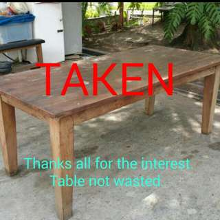 Solid Wood Dining Table - Giving Away