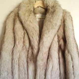 Genuine Norwegian Silver Fox Fur Coat