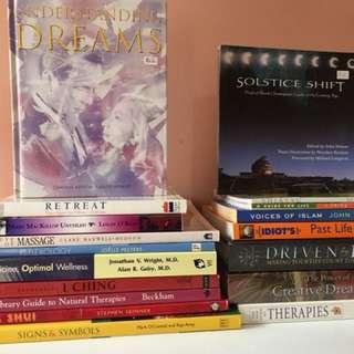 X18 NEW AGE SPIRITUALITY BOOKS