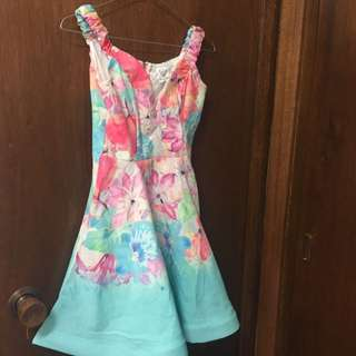 Colourful summery dress