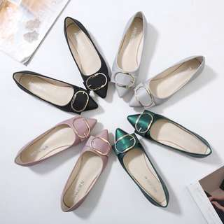 Pointed Head Casual Flat Suede