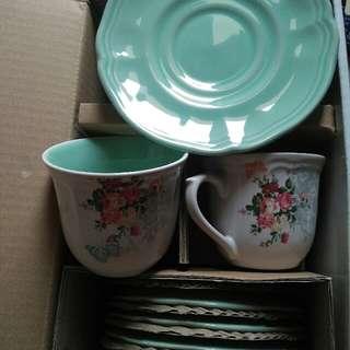 Legacy Cangkir Keramik Tea Set Shabychic