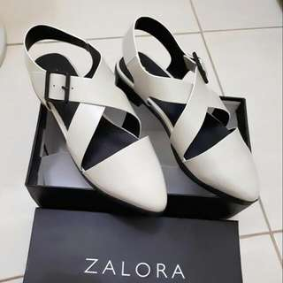 (NEW) ZALORA WHITE LOAFERS SHOES