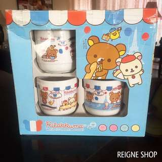 RILAKKUMA TEACUP SET WITH BOX