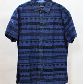 FOREVER 21 (Blue Aztec Polo)