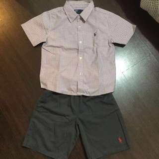 Polo By RL (polo&shorts) size 8