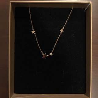 Rose Gold Star Necklace from private designer