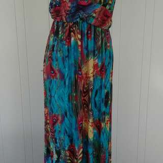 Colourful maxi dress