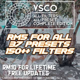 VSCO PRESETS (Complete All Filters)