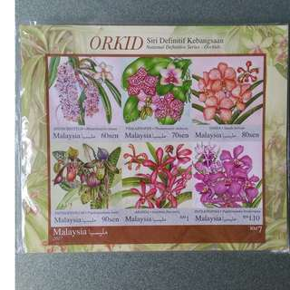 2017, Malaysia Stamps, National Definitive Series, Orchids MS