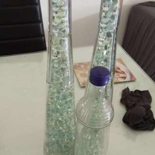 Galliano bottles with mini glass balls