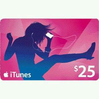 Itunes Gift Card USD 5,10,15,20 & 25 (US)