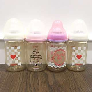 Pigeon Wide Neck PPSU Bottle & Chu Chu Baby Wide Neck PPSU Bottle 150 ml (used for less than 3 months)