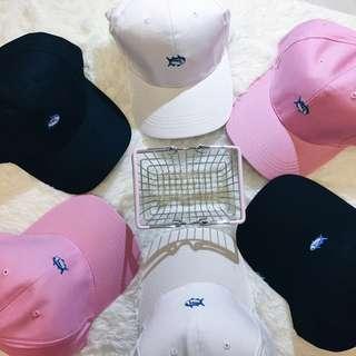 ⚡️超便宜現貨特價❗️❗️❗️⚡️韓版電繡 小魚🐟圖案老帽 鴨舌帽