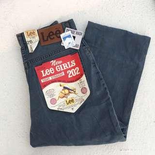 80s Lee老品庫存牛仔褲 鐵灰軟布 直筒高腰褲 26腰❤️任選兩件減100✨古著復古vintage