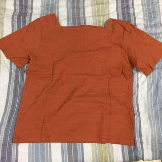 🚚 正韓棉麻上衣 磚橘色 顯白