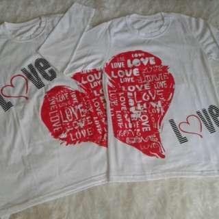 LOVE COUPLE WHITE Kode 516305 couple , uk : 1) Ld/p : 47/68 , uk : 2) Ld/p : 42/62
