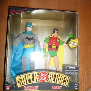 全新 DC Super Heroes BATMAN and Robin 10寸 Set Golden Age Collection 蝙蝠俠 羅賓