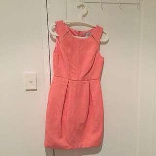 Peach Dress Size 8