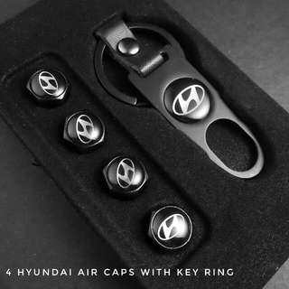 Hyundai Air Cap Set With Free Car Usb Charger!