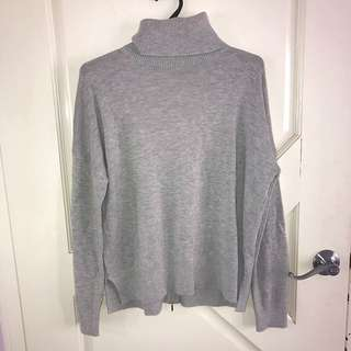 Grey Zip-Back Knit