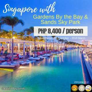 Singapore with Gardens By the Bay & Sands Sky Park