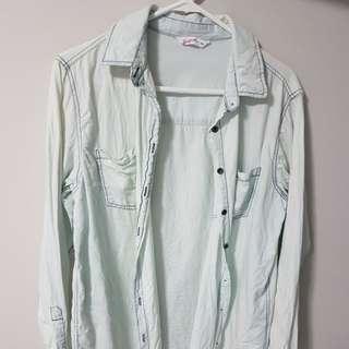Light wash button up shirt