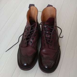 London Trickers Stow Burgundy Brogue Boots