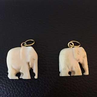 Pure Ivory Elephant Pendant