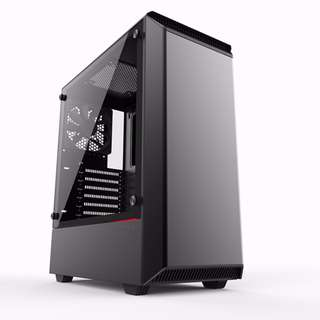 Phanteks Eclipse P300 Black Steel Chassis, Tempered Glass Window ATX Mid Tower Computer Case ( All-in-one water cooling fit in Maximum 275mm E-ATX MB Compatible 2 x USB 3.0, Mic, Headphone, RGB LED SW )