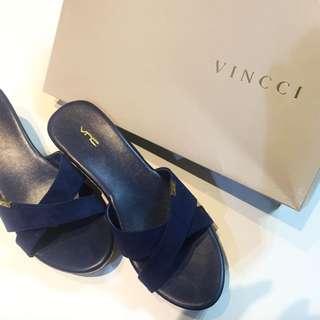 Vincci 寶藍楔型涼鞋
