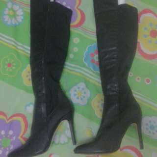 Pu over knee boots