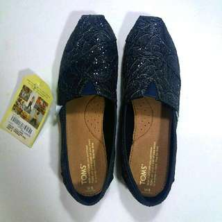 Repriced Toms Classic Pewter Lace Glitz