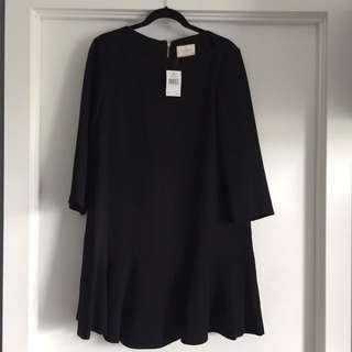 Kate Spade Crepe Flounce Dress