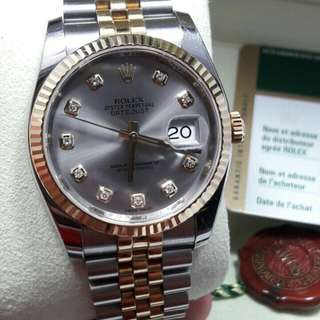 Rolex Datejust I with diamonds