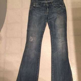 7 for all mankind flare jeans size 27