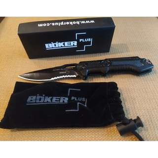 Boker Plus Quick Opening Tactical Folding Knife for EDC, Camping, Outdoor use