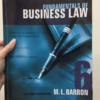 Fundamentals of Business Law Textbook
