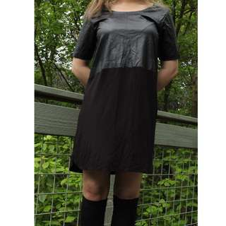 Seed Faux Leather Dress
