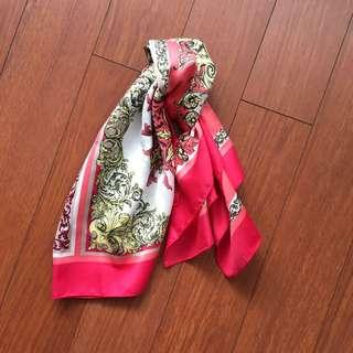 Patterned Silk Scarf (faux silk)