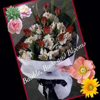 Flower Bouquet-12pcs Roses
