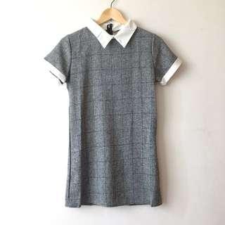 BN Grey Checkered Shift Dress