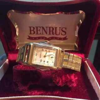 二手正品瑞士机械古典老款手表古董表女表Benurs10k注金全套齊