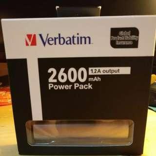 2600 Power Bank 100% New