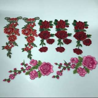 Floral Embroidery Patches (Large)