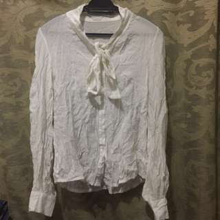 White blouse with tie