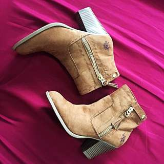 US Polo Assn Fringe Ankle Boots (Size 9)