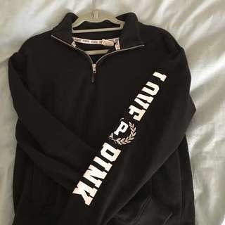 Half zip hoodie from pink