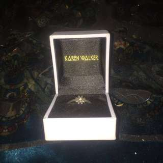 Karen Walker Mini Daisy Ring Silver