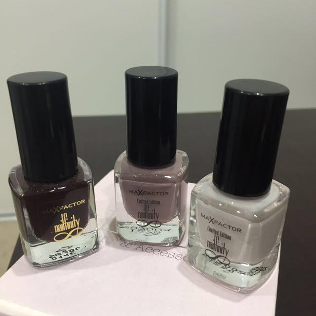 3 for $12 MaxFactor Limited Edition Nailfinity Nail Polish